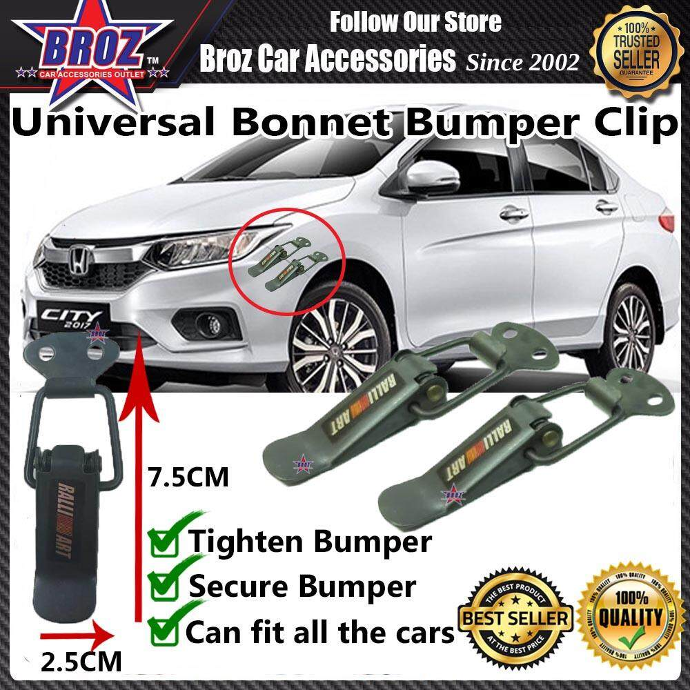 Universal Car Bonnet Bumper Clip Small - Ralliart Black