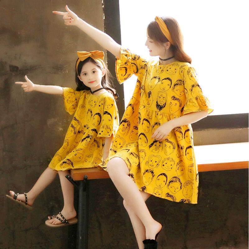 Hình ảnh Bố Mẹ Trẻ Em Mùa Hè 2019 Mới Lưới Đỏ Cô Gái Áo Trẻ Em Thời Trang Công Chúa Váy Đầm Nữ