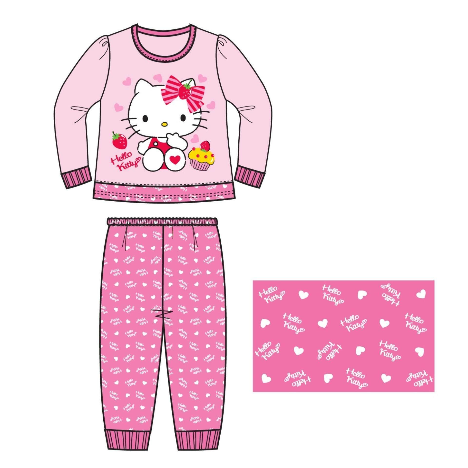 Sanrio Hello Kitty Children Kids Homewear For Age 5yrs To 12yrs 100% Cotton - Pink
