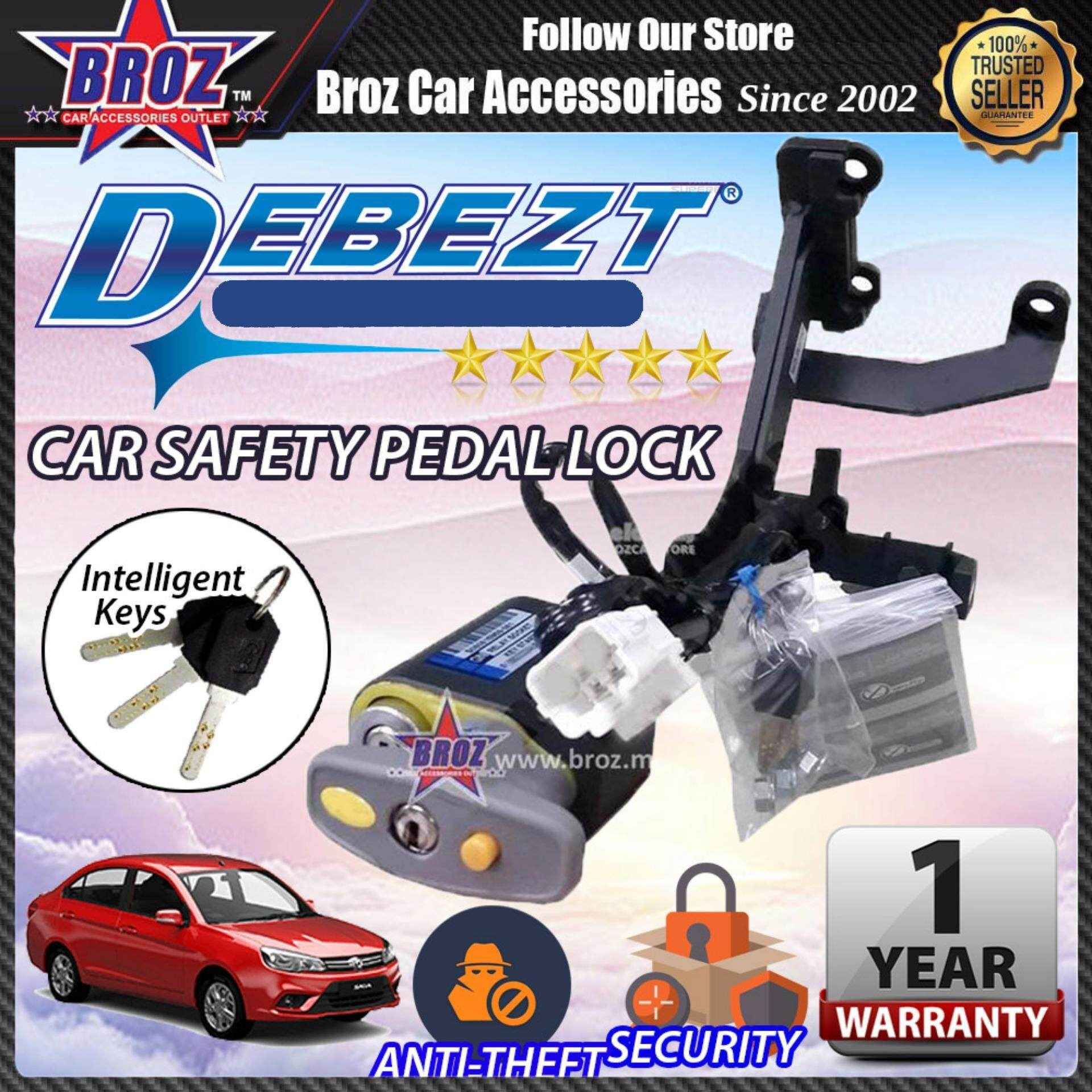 Saga 2016-2017 Debezt Auto Key Start Anti Theft Double Pedal Lock