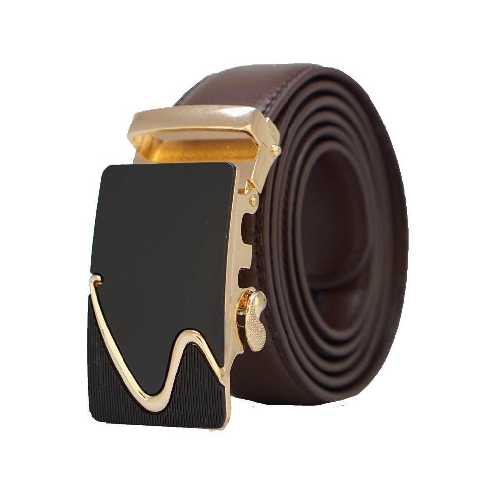 Original A91 Genuine Calf Skin High Premium Quality Luxury Leather Men Belt - Adjustable Strap for Size M , L