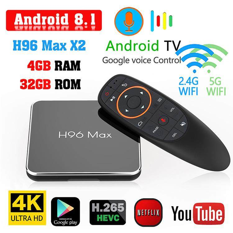 ดีไหม  น่าน [เวอร์ชันเสียง] H96 Max X2 S905X2 Android 8.1 TV BOX กล่องรับสัญญาณ 4GB + 32GB Set top box
