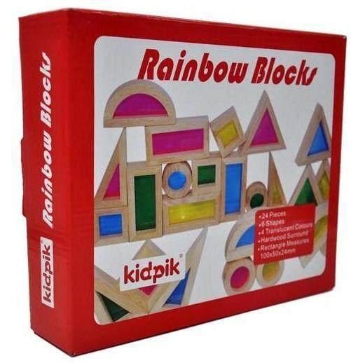 Kidpik Wooden Rainbow Blocks