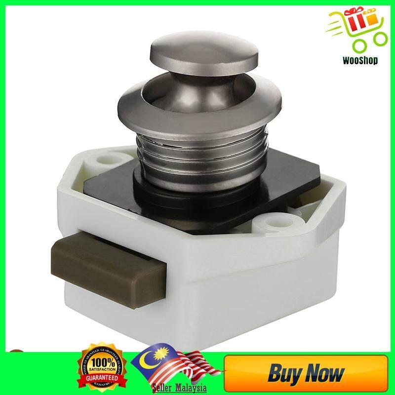 5x Push Button Drawer Cupboard Door Catch Lock Caravan Motor - WHITE-5  PIECE(s) / BROWN-5 PIECE(s)