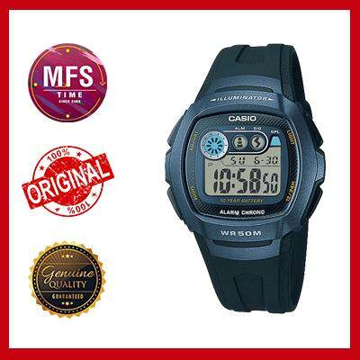 (2 YEARS WARRANTY) CASIO STANDARD DIGITAL W-210-1B SERIES (10 YEARS BATTERY LIFE)