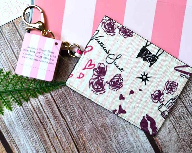 VS Victoria's Secret Keychain Card Holder