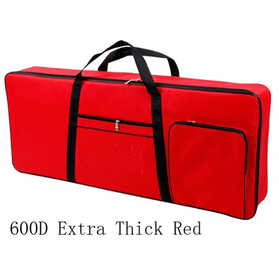 61 Keys Keyboard Electric Piano Waterproof Bag Padded Case Gig Sponge 600D Extra Thick