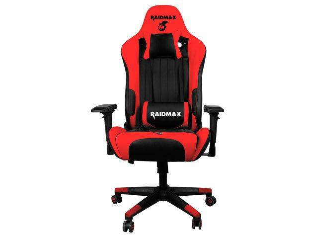 Raidmax Drakon DK707 Racing Gaming Chair with Adjustable Pillow Lift Seat High Back Swivel Chair 4D Armrest PU Leather