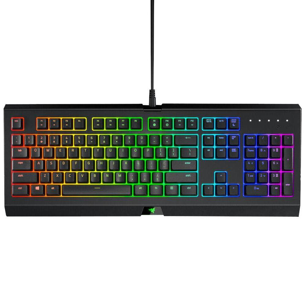 Razer Original Cynosa Chroma Multicolor Backlit Gaming Keyboard Water Spill Resistant Programmable Cushioned 104 Full Sized Keys for PC / Xbox One