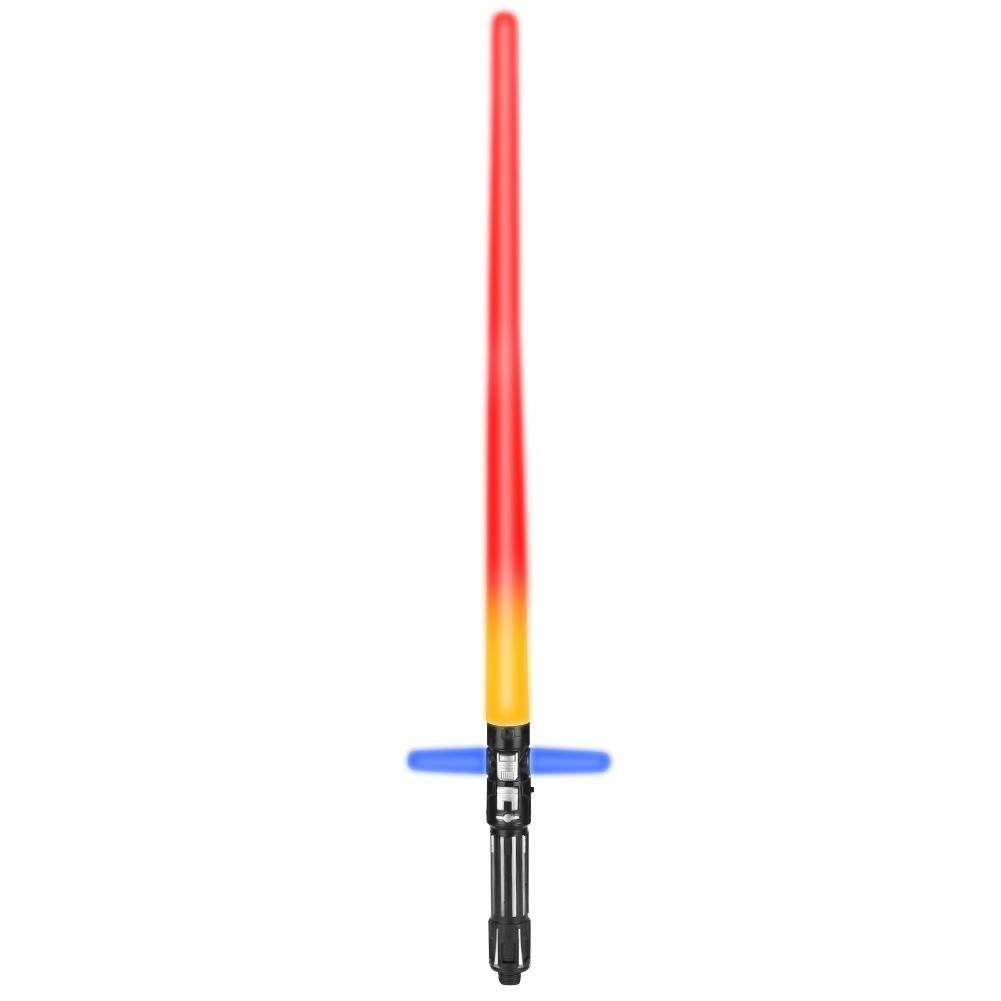 Colorful Cross Telescopic Laser Sword Children Toy Sword Outdoor Lightsaber
