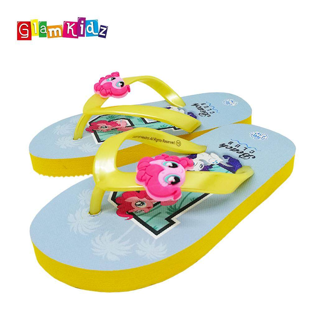a0ad27d024a GlamKidz My Little Pony Girls Slippers (Yellow)  2599