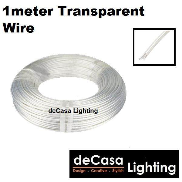 Spare Parts 1 Meter Black / Transparent Wire for Decasa Lighting PENDANT LIGHT / HANGING LAMP / LAMPU GANTUNG (1 METER WIRE)