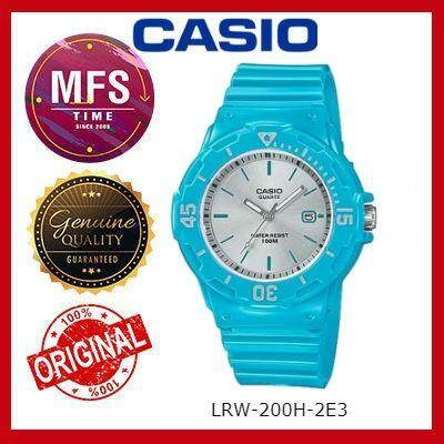 2 YEARS WARRANTY) CASIO ORIGINAL LRW-200H-2E3 SERIES STUDENT & KID'S WATCH