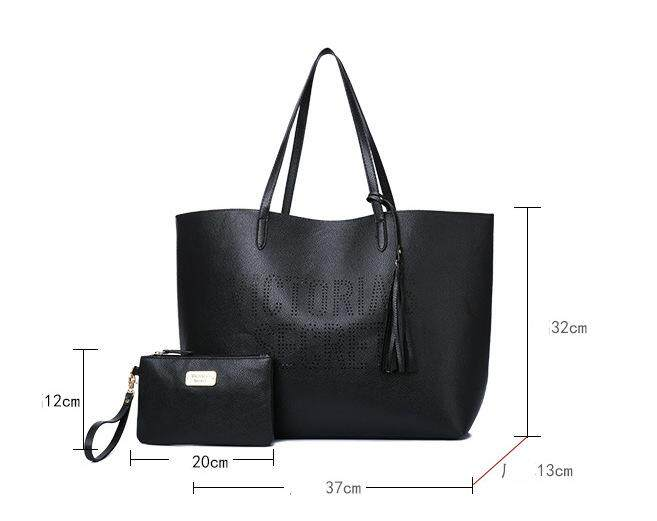 Victorias Secret Leather Gorgeous 2 in 1 Tote Bag