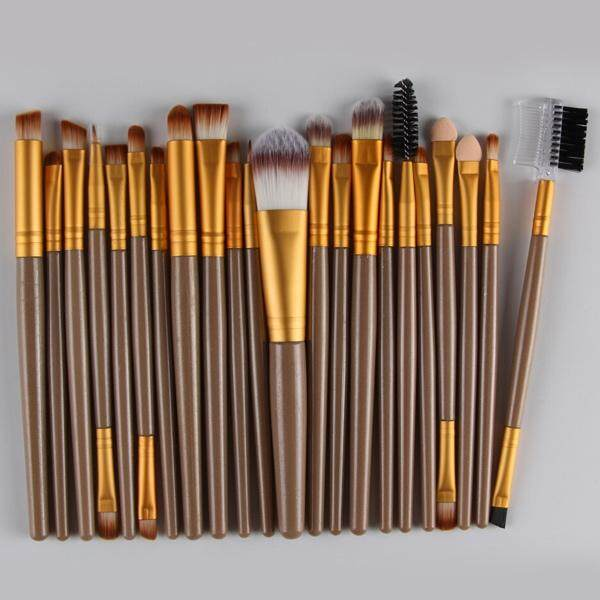 22 Pcs Nylon Eye Lip Makeup Brushes Set (Golden)