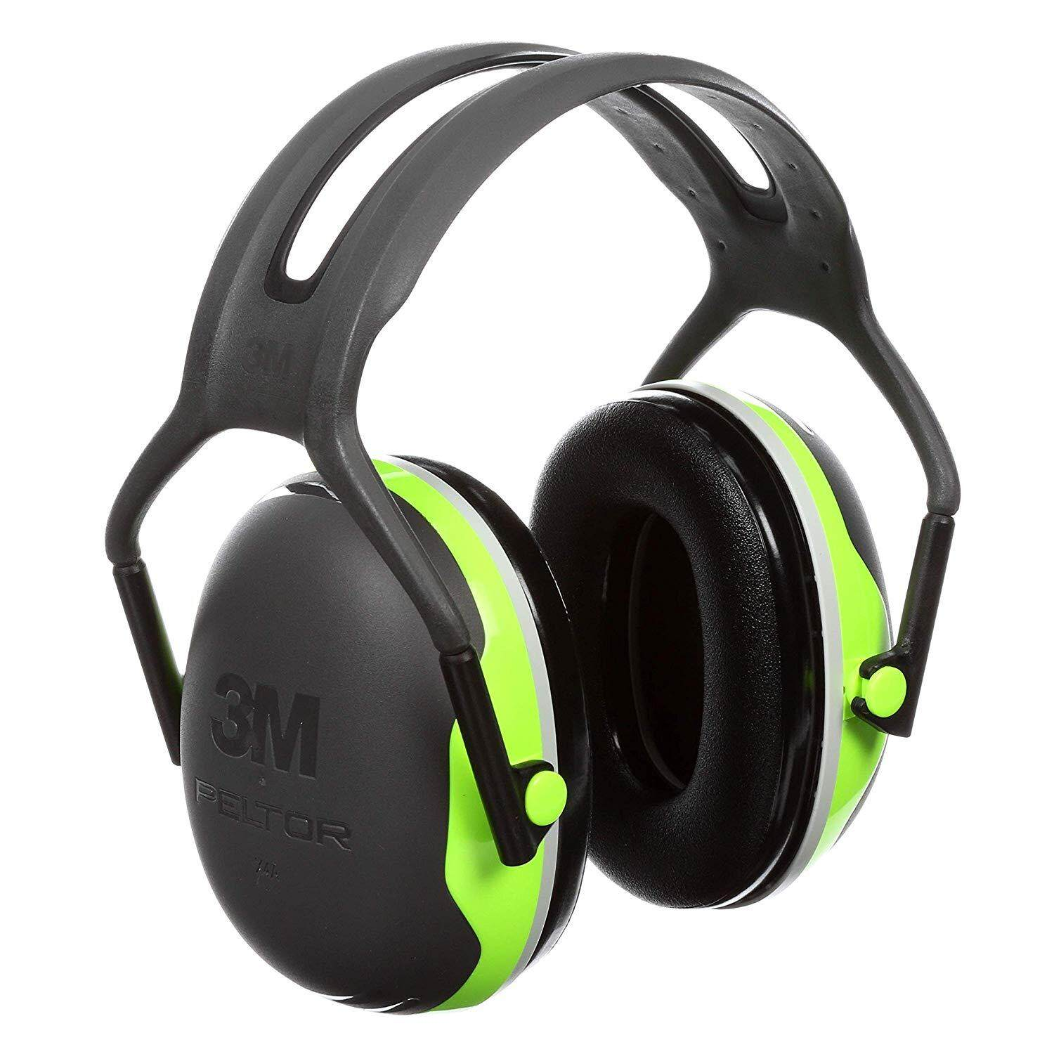 [ 100% ORIGINAL] 3M Peltor X-Series Over-the-Head Earmuffs, NRR 27 dB, One Size Fits Most, Black/Chartreuse X4A