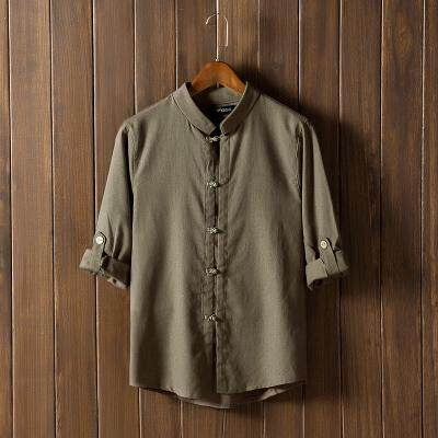 JYS Fashion Korean Style Men Cotton Linen Blouse Collection 320B- 9396