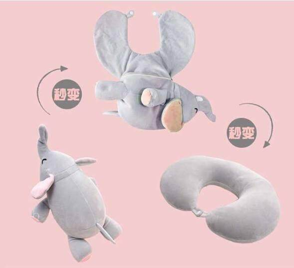 Toy Cartoon Soft Plush Dolls Neck Travel Pillow Deformable U Shaped Pillow