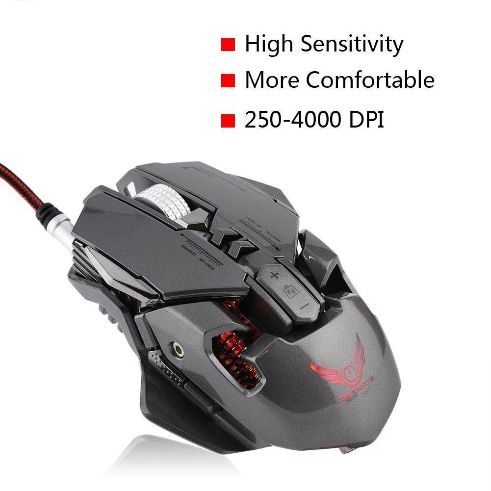 Gaming Mice - ZERODATE X300GY Mechanical Gaming Mouse 250-4000 DPI Adjust  Gamer Mice for PC