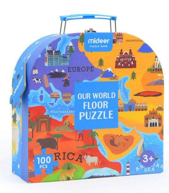 MiDeer Gift Pack Puzzle -Our World Floor Puzzle - 100 pcs toys education