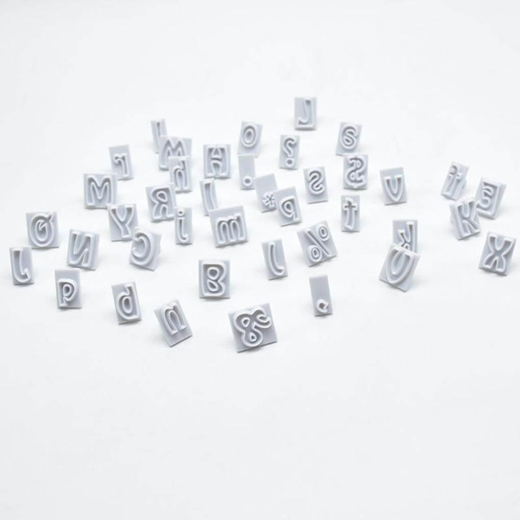 ... 64 Buah/Set 64 Huruf Cutting Die Plastik Pemotong Kue Cetakan Panggangan Kue Kering Cetakan ...