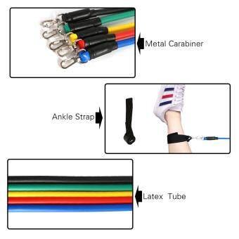 11Pcs Resistance Bands Yoga Pilates Crossfit Fitness Equipment Elastic Pull Rope Work Latex Tube Set