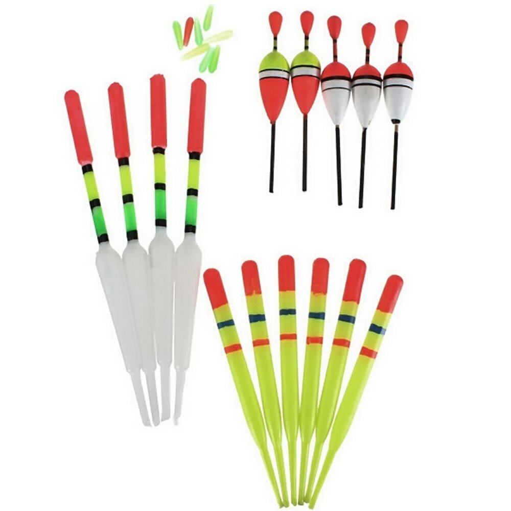 15 Pcs Fishing Float in 3 Size Fishing Float Bobbers Tube Slip Set Selection Kit Fishing Accessories - intl