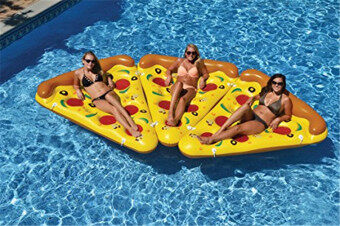 Harga 180*150cm Giant Inflatable Pizza Slice Float Swimming Circle