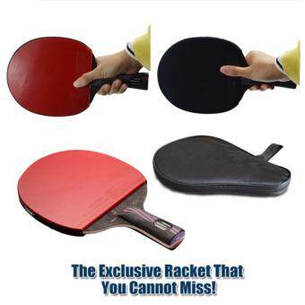 1x Brand Quality Carbon Fiber Table Tennis Racket Blade with Double Face Racket Rubber Bat Boll NANO-V with Bag Table Tennis Bat