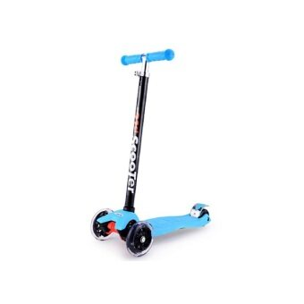 21st Scooter Height Adjustable Flash Wheels Scooter Blue
