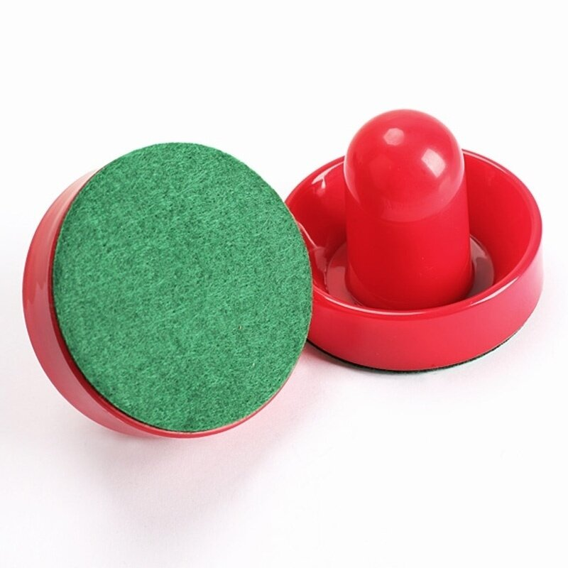 Hình ảnh 2Pcs Air Hockey Table Felt Pusher with 2pcs Puck Mallet Goalies Hockey Pusher - intl
