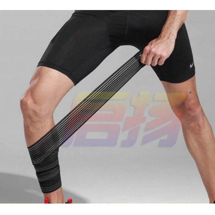2 Pcs/lot Powerlifting Elastis Perban Kaki Compression Calf Lutut Penyangga Tali Pembungkus Tali Penjepit