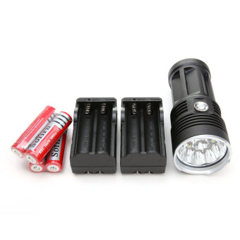 30000LM 12x CREE XM-L T6 LED Flashlight Torch Lamp +battery+charger -
