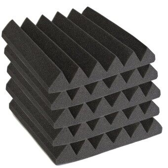 Harga 30X30X5CM Studio Acoustic Foam Sound Absorption Treatment PanelTile Wedge Black