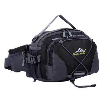360DSC 3L Outdoor Sports Waist Bag Waterproof Climbing Traveling Single Shoulder Bag Handbag 0963 (Black)