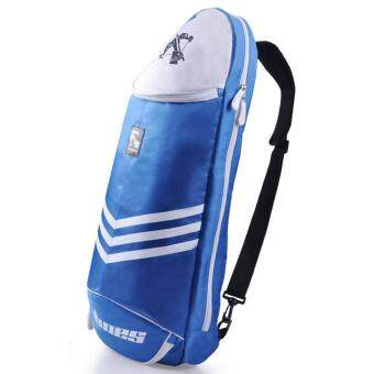 360WISH Big Sports Crossbow Waterproof Multilayer Placement Badminton Tennis Racket Dacron Shoulder Bag - Blue
