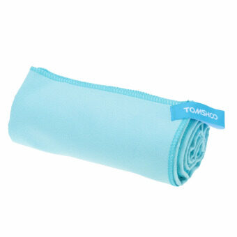 Harga 40*80cm Microfiber Quick Drying Towel Compact Travel CampingSwimming Beach Bath Body Gym Sports Towel Blue