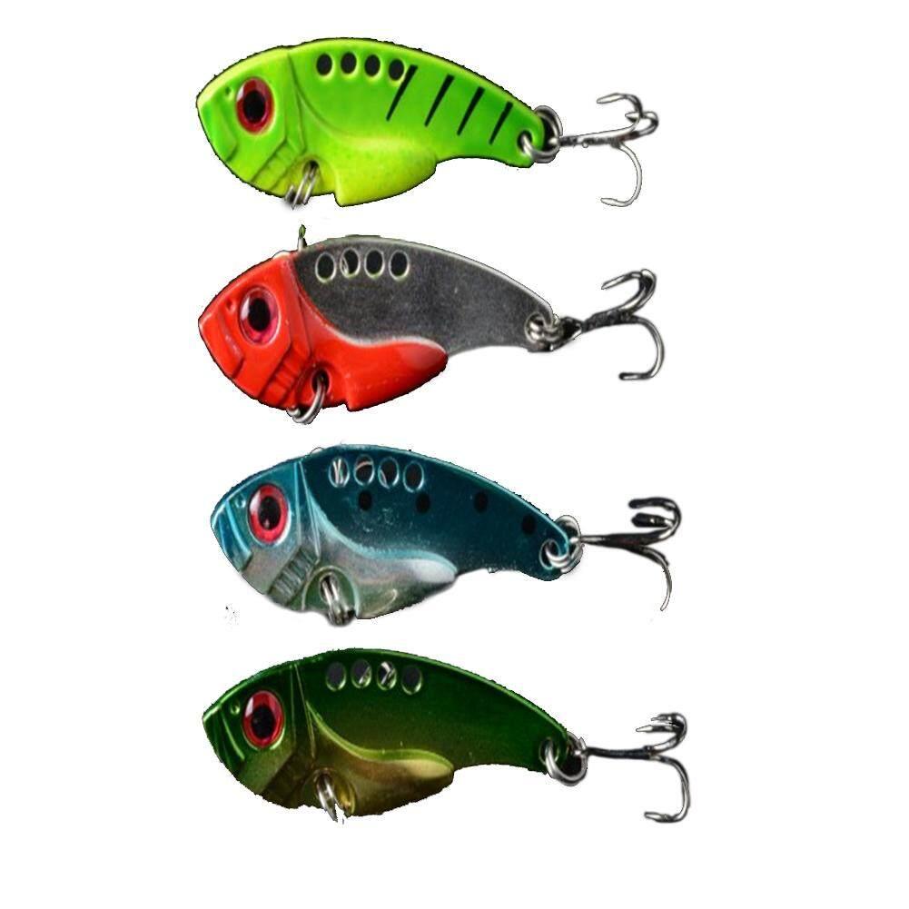 Keberuntungan-G 4 Pcs 5.5 Cm Pancing Umpan Logam Buatan Keras Umpan Ikan Kecil Wobbler