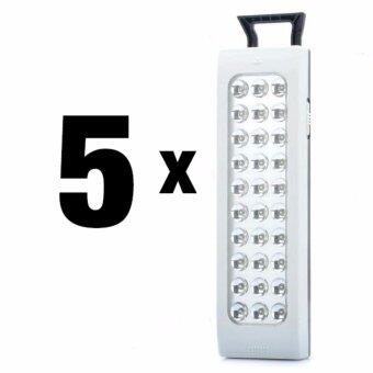 Harga [5 in 1 Pack] Rechargeable 1600mAh 8 Hours Battery PortableEmergency Hiking Camping 30 LED Light