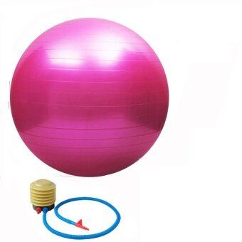 55CM High Quality Gym Fitness Ball Anti-burst Yoga Exercise Ball W/ Pump Pink