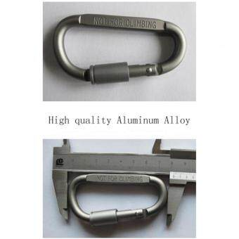 5Pcs Aluminum Snap Hook Carabiner EDC Tool D-Ring Key Chain Clip Keychain For Hiking Camping - 5