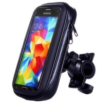 Harga 6.0 inch Bicycle Motocycle Bike Phone Waterproof Bag Holder foriphone 6 plus /Meizu pro 5 (Black)