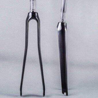 700C Road Fork Sepeda 3 K Glossy Full Carbon Perlengkapan Pemasang Garpu Sepeda Karbon Forks Mengikuti