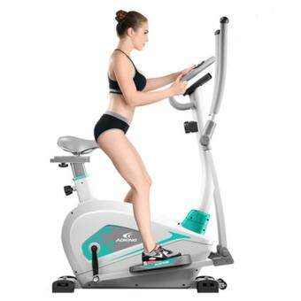 ADKING T911 2 In 1 Elliptical Fitness Equipment Cross Trainer Exercise Elliptical Bike For Indoor Cycle Trainer & Gym Workout Fitness With Hand Pulse - 2