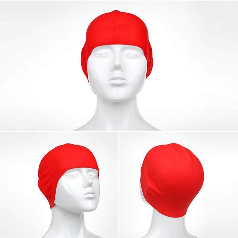 Dewasa Silikon 3D Celana Renang Indah Telinga Karet Perlindungan Pool Berenang Topi-Internasional