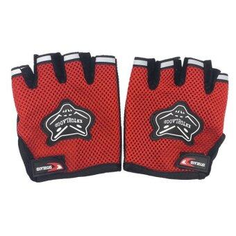 Harga AFGY FGB 083 Cycling Half Finger Gloves Motorcycle Racing OutdoorSports - Red