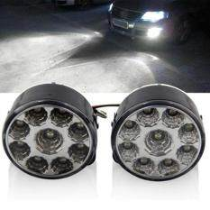 Allwin 2 Pcs 9 LED Mobil Head Front Fog Light Off-road Lampu