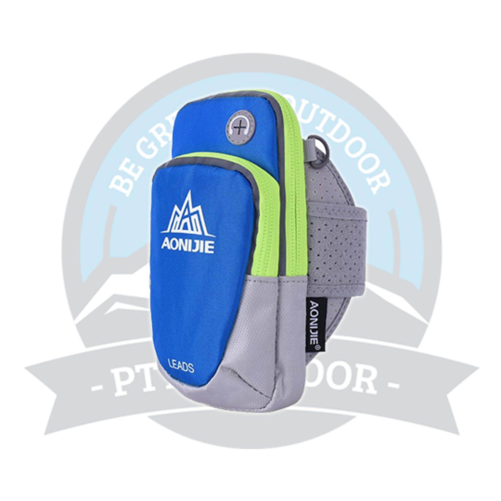 [READY STOCK] AONIJIE Sport Armband Phone bag with Large Capacity, Waterproof for Outdoor Activities - Light Blue