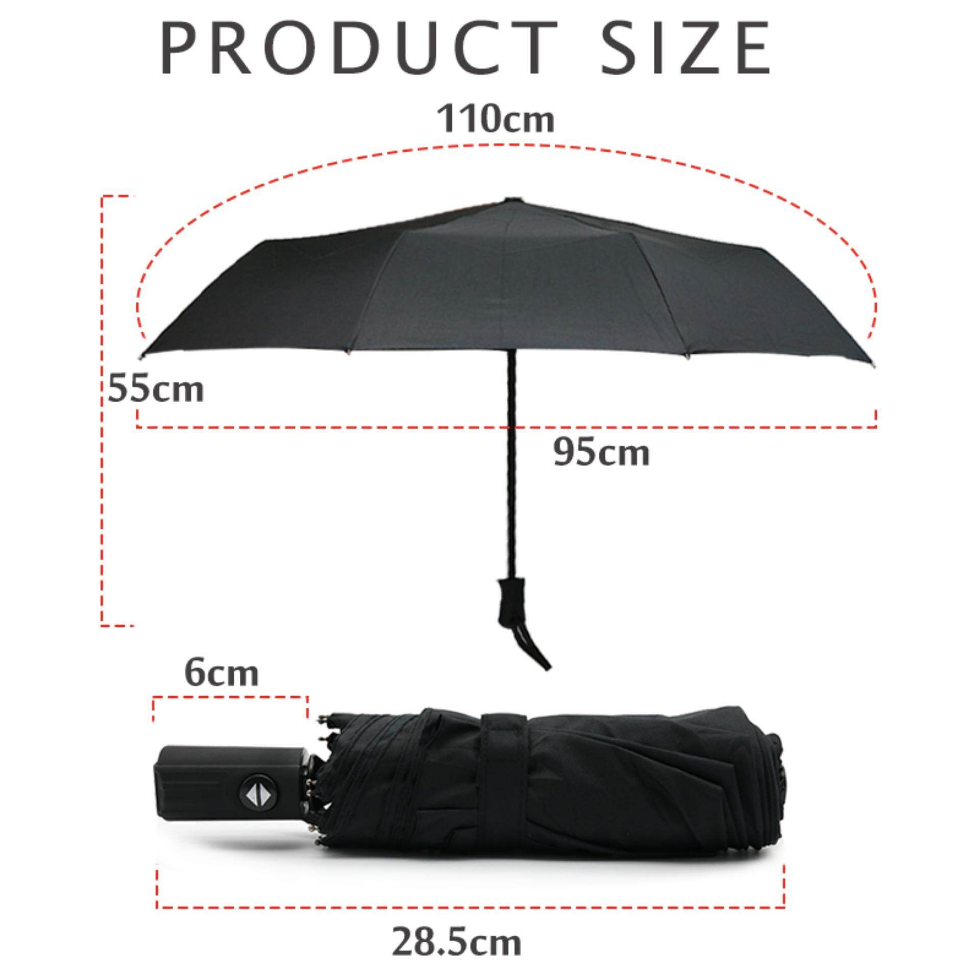Automatic Folding Umbrella Rain Men Car Logo Windproof Business Quality pattern Black Umbrella for honda car ...