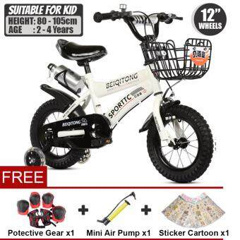 BEIQITONG [NP128] BMX Freestyle Kids Bikes 12 Inch Wheels Boy's And Girl's Bikes With Training Wheels, Gifts For Children